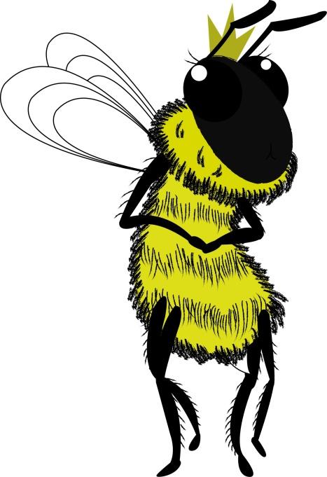 queen bee character design vector