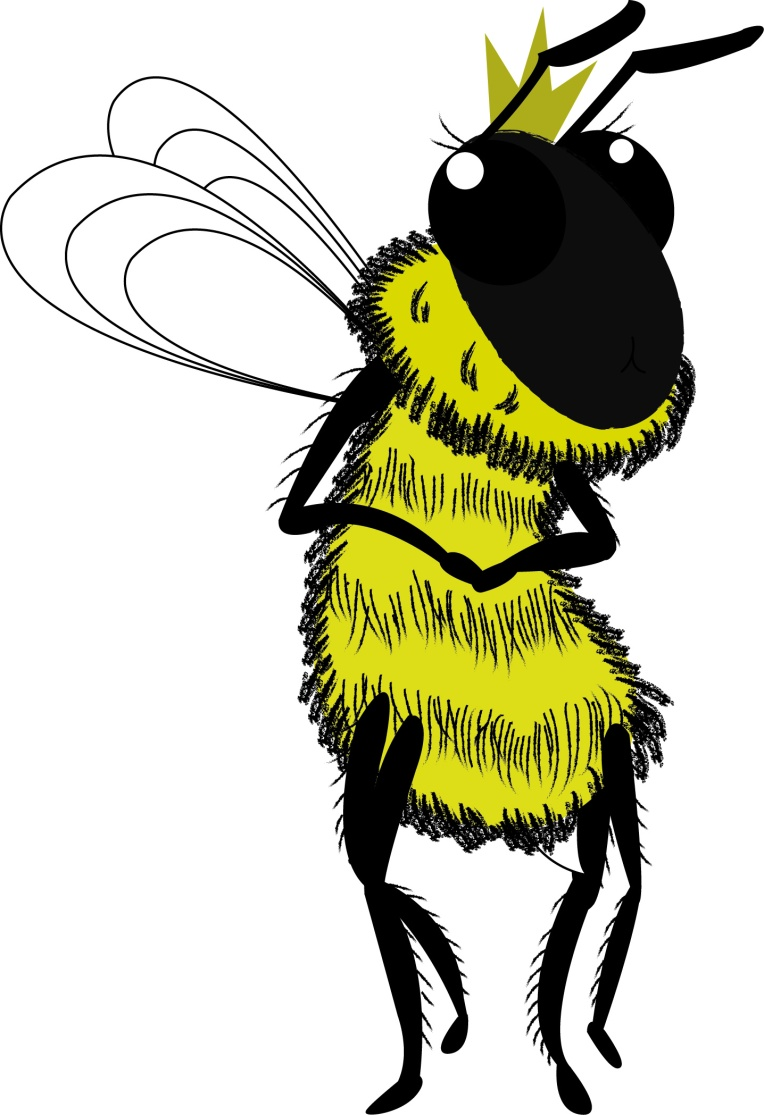 queen bee character design vector